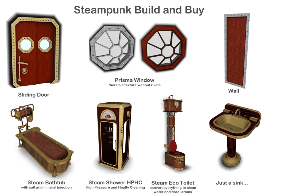 Mod The Sims Steampunk Accessories