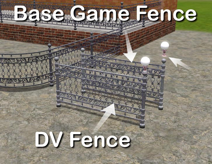 Mod The Sims Cast Iron Stair And Matching Fence