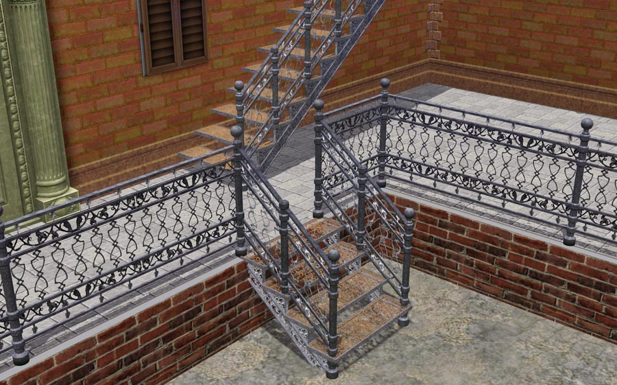 I Have No Cast Iron Staircase That Was In Sims1 And Sims2 And Was Therefore  Forced To Make One Myrself. Unfortunately I Can Not Make A Spiral Staircase  ...