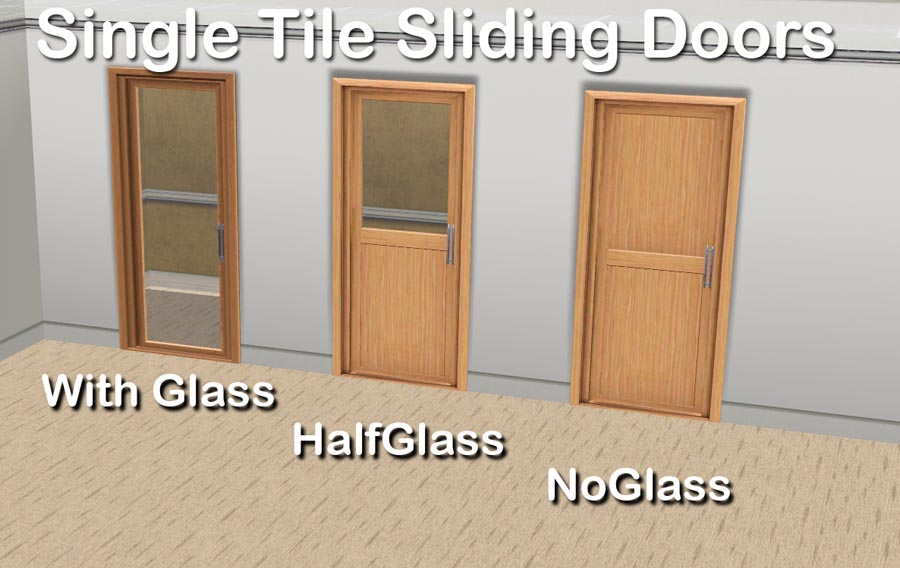 Mod The Sims Single Tile Sliding Doors