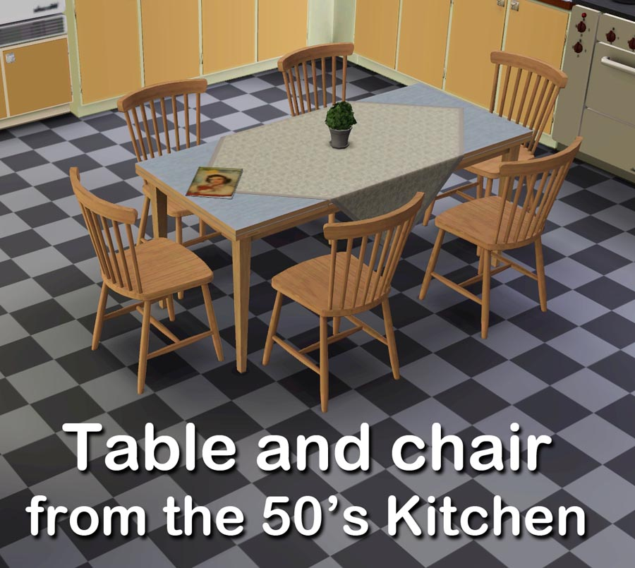 mod the sims   table and chair from the 50 u0027s kitchen  rh   modthesims info