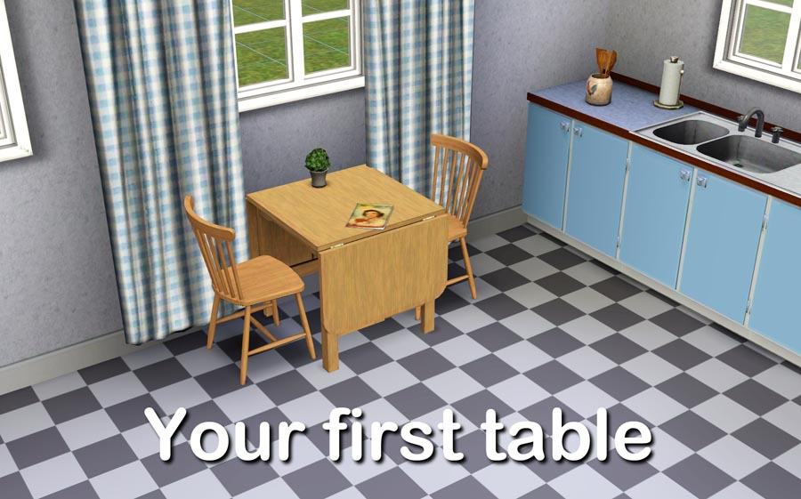 mod the sims a folding table in three variants