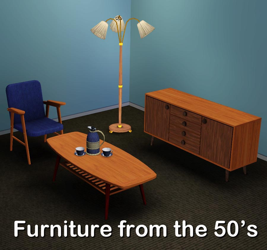 Mod the sims stuff from the 50 39 s for 3 star living room chair sims