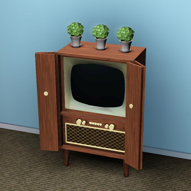 mod the sims retro tv. Black Bedroom Furniture Sets. Home Design Ideas