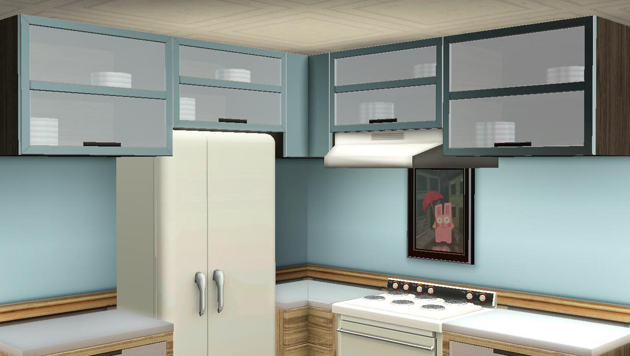 Mod The Sims - Maxis Match - Kitchen Cabinets (updated for Pets)