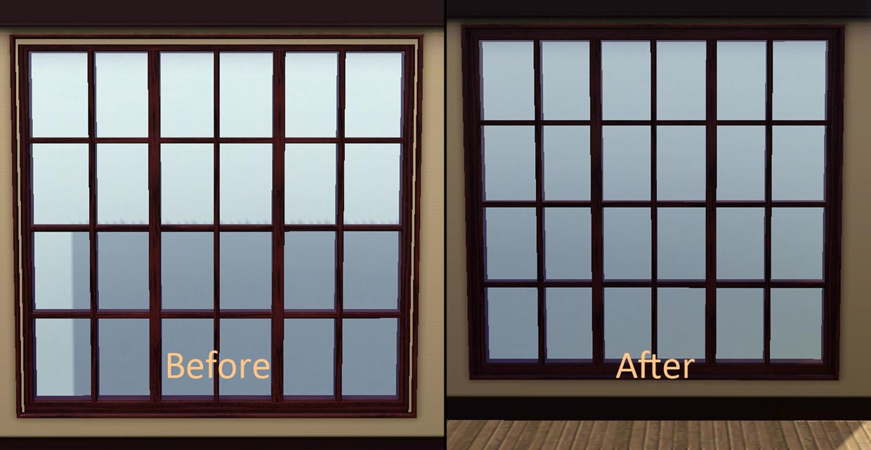 Mod the sims door and window fix for The door and the window