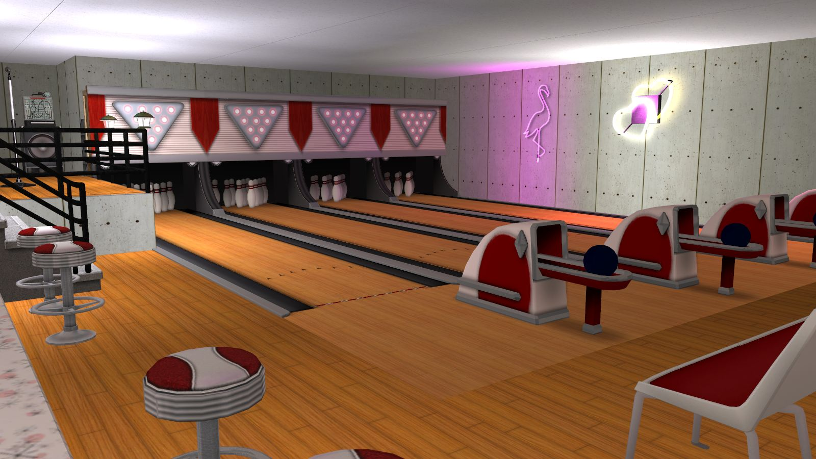 sims 3 bowling alley lot