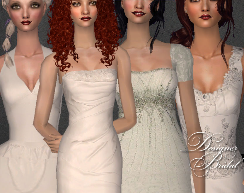 Mod The Sims - Designer Bridal Gowns