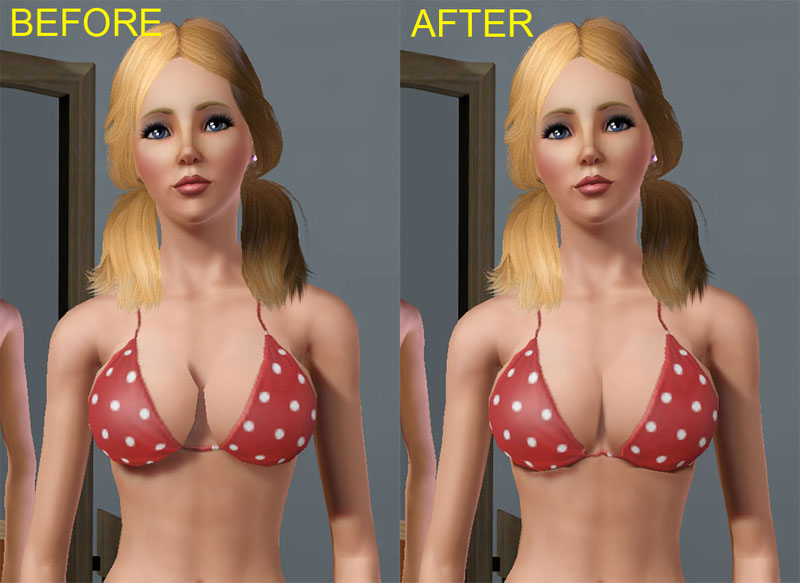 Sims busty boobs mod
