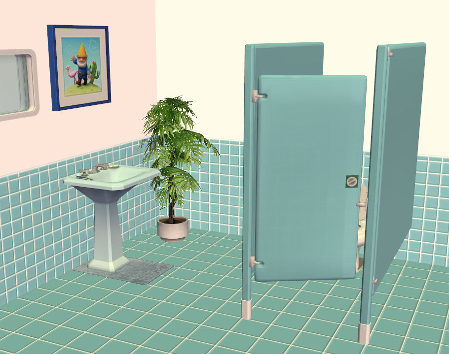 Bathroom Stalls Sims 3 mod the sims - toilet stalls - matches the 'atomica' floor tiles