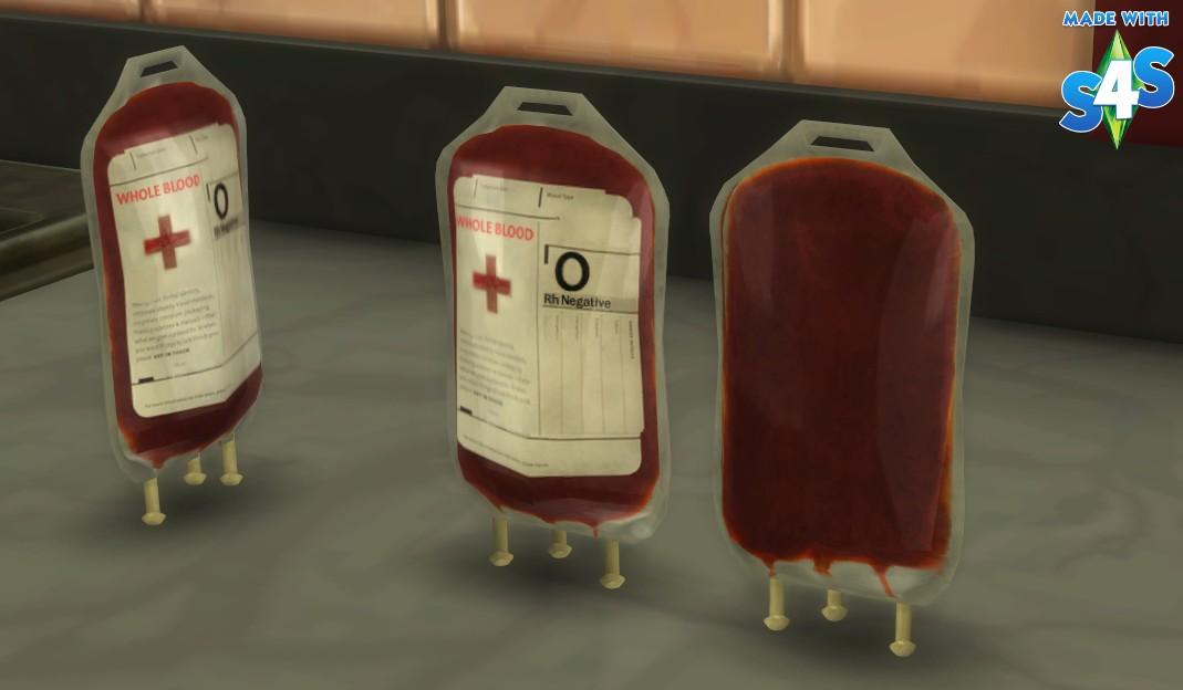 Mod The Sims Blood Bag O Negative V3 And Emergency Cooler V3