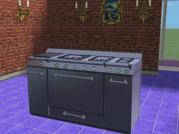 Mod The Sims My Grill Stove Recolor