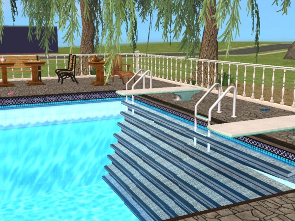 Mod the sims new mesh pool stair in and out for Pool design sims 4