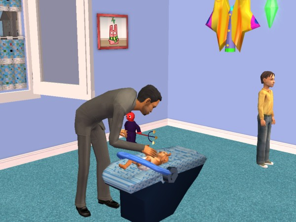Mod the sims new mesh recolor baby cradle for Baby bathroom needs sims freeplay