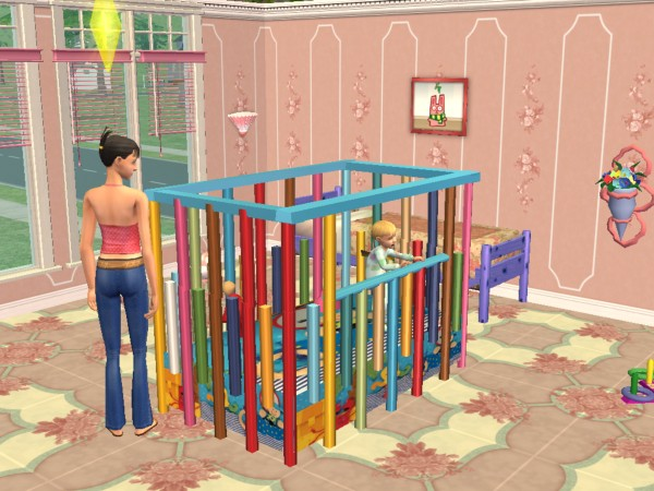 mod the sims new mesh playpen. Black Bedroom Furniture Sets. Home Design Ideas