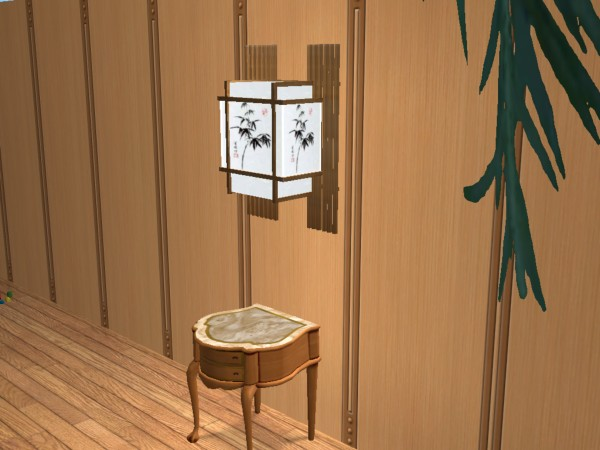 Mod the sims new mesh japanese wall lamp x aloadofball Images