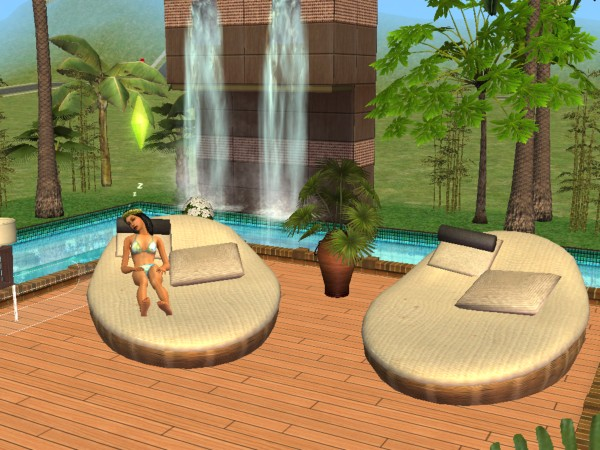 Mod the sims animonia design lounge chair a cushy for Pool design sims 3