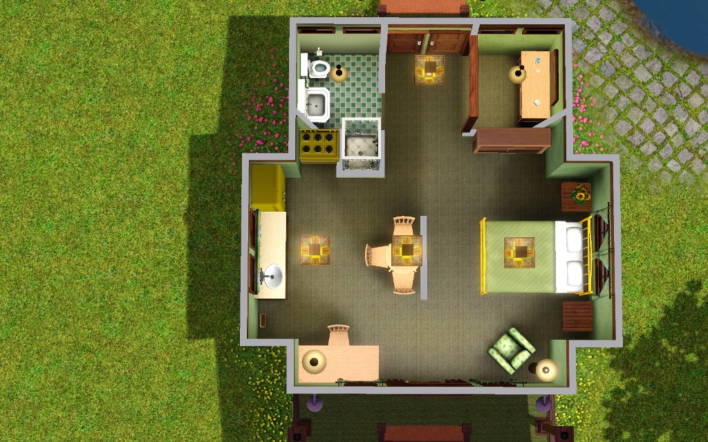 Sims 3 starter home floor plans for Starter house plans