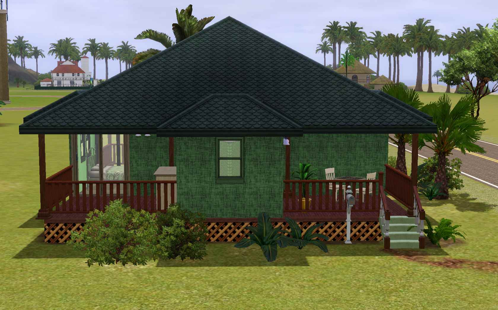 Mod The Sims - Turtle Shell Pole House - Base Game & No CC