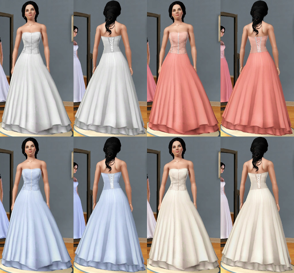 Sims 3 Wedding Gown