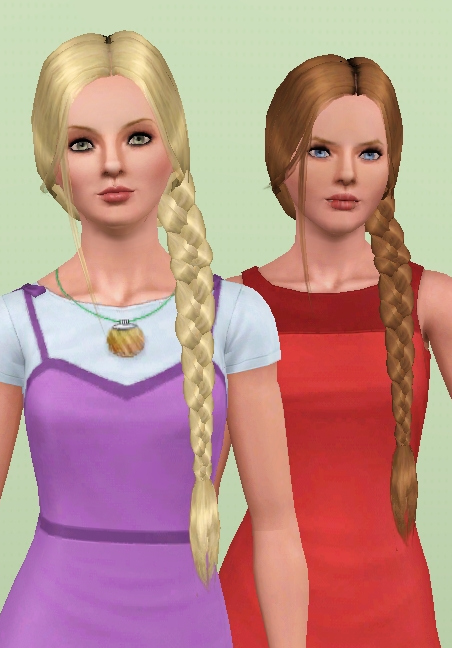 Mod The Sims Nouk Side Braid Conversion All Ages