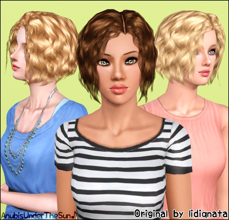 Mod The Sims Lidiqnatas Short Curly Hair Converted For All Ages