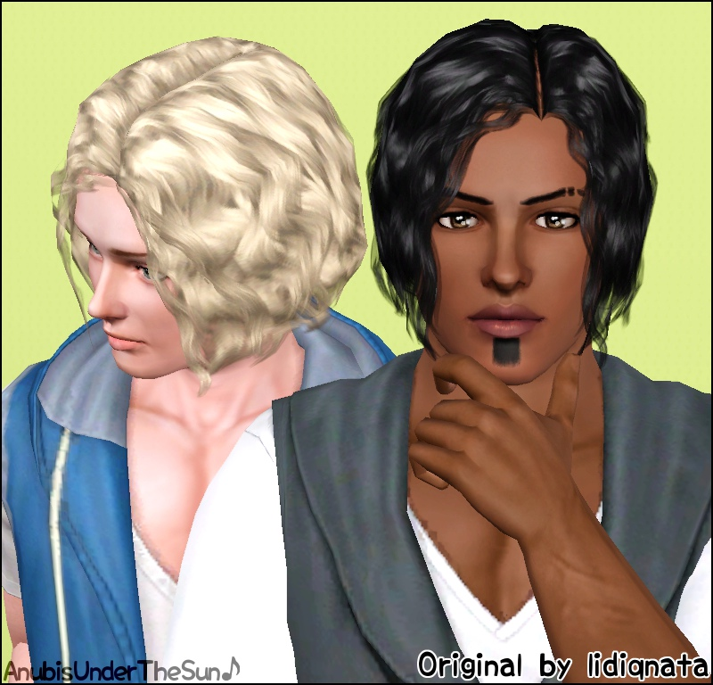 Mod The Sims Lidiqnata S Short Curly Hair Converted