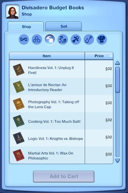 Sims 2 buyable homework