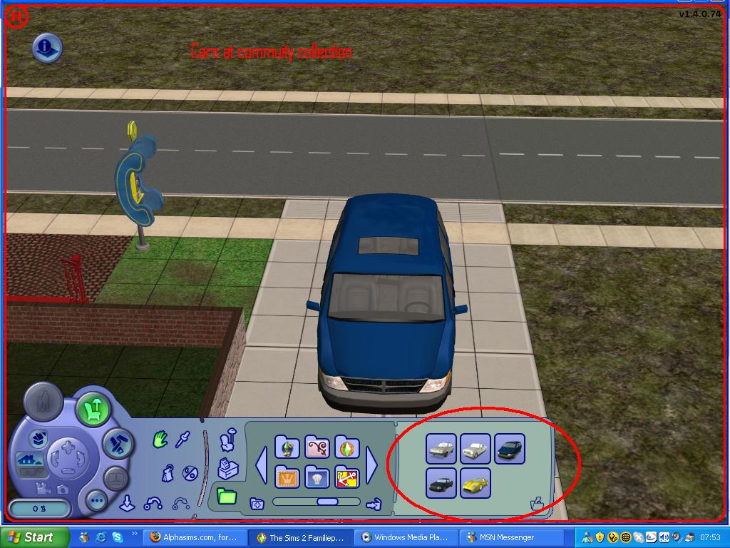 Mod the sims cars at commuity lot collection for Sims 3 spielideen
