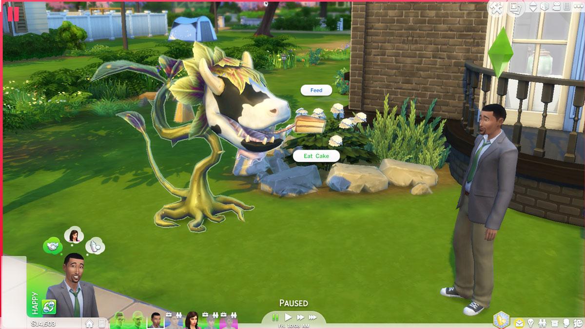 Mod the sims more dangerous cow plant brown recolour.