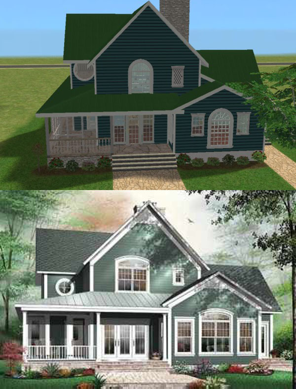 225438 on Modern Colonial House Plans