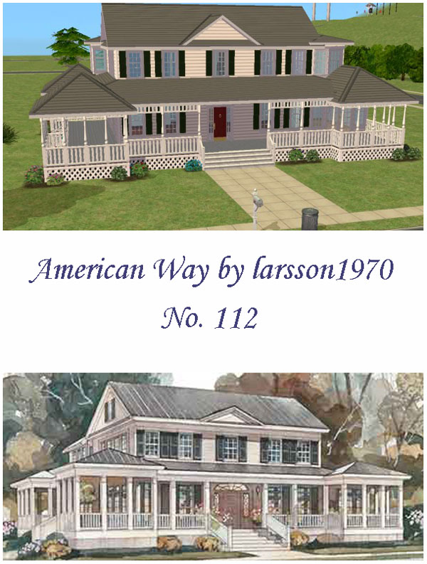 Mod the sims american way 112 for Classic 6 house