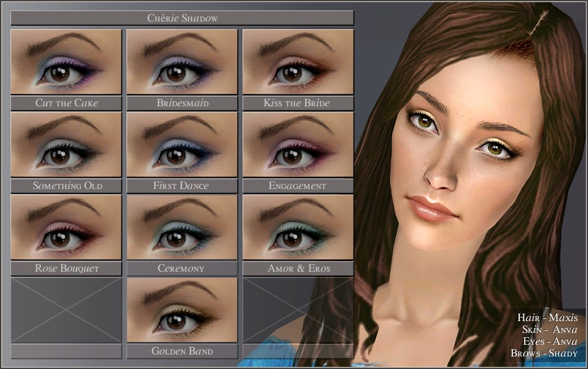 Mod The Sims Eye Palettes 4 Sets Of Eye Shadow