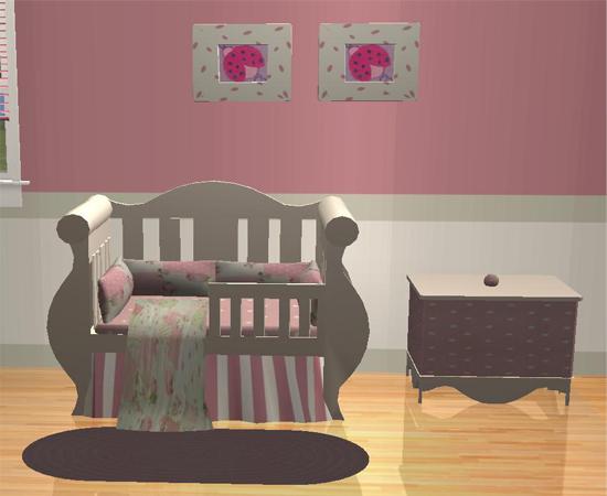 Mod The Sims Shabby Chic Style Nursery
