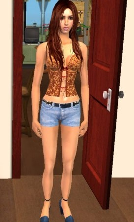 Mod The Sims - Denim shorts with high heels - Warlokk mesh