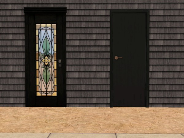 If youu0027re like me than you usualy build burnt out victorian slums that just wouldnu0027t be right unless all the doors and windows were broken or black . & Mod The Sims - Black Door Recolours
