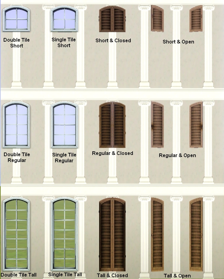 """Sims 4 Cc S The Best Windows By Tingelingelater: """"Shuttered Window"""" Expansion Set! [MAJOR"""