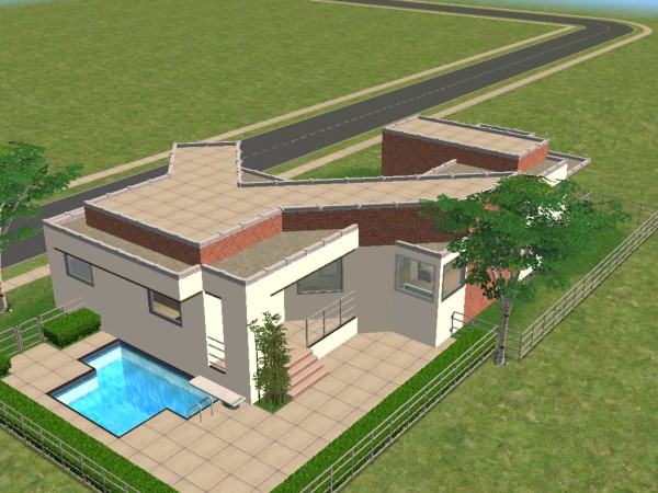 Sims 3 Constrain Floor Elevation Tutorial : Mod the sims odds and angles modern house