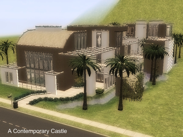 mod the sims - a contemporary castle