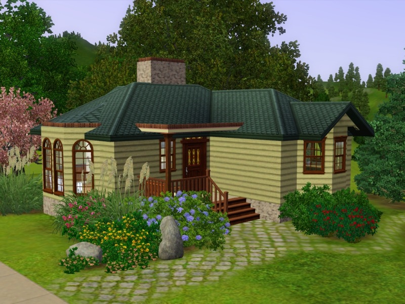 Mod the sims cobter cottage for Small but beautiful house