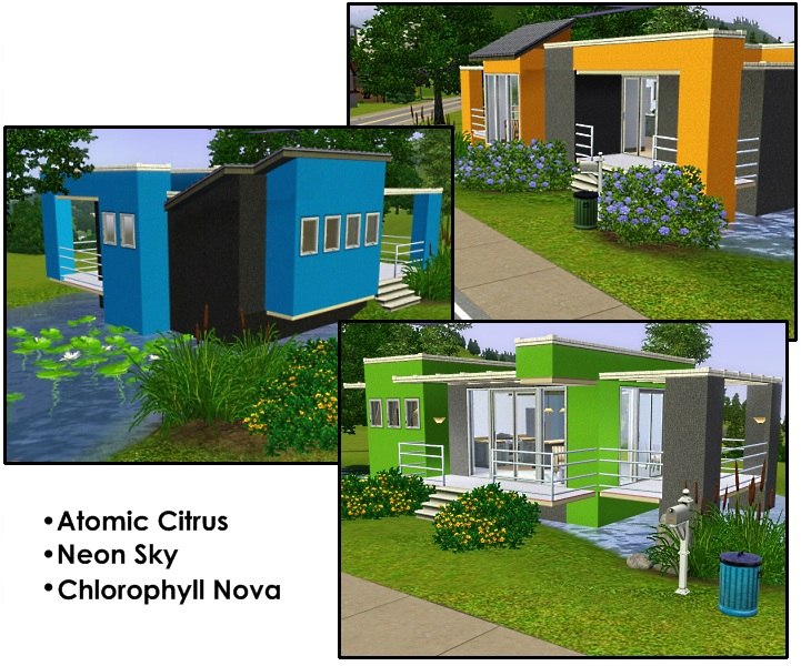 Mod The Sims Vivid Colors Three Modern And Colorful Houses - Cool sims 3 houses