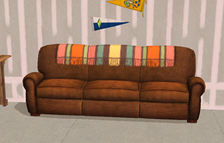 Mod The Sims Sofa With Blanket Recolor
