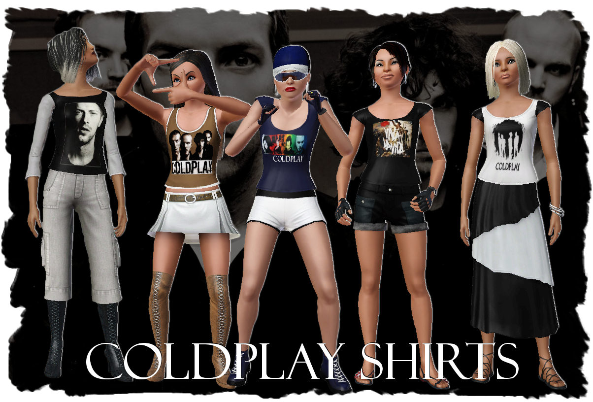 Mod The Sims Coldplay Female Shirts