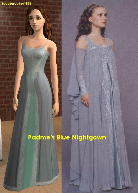 Mod The Sims Padme Amidala S Blue Nightgown