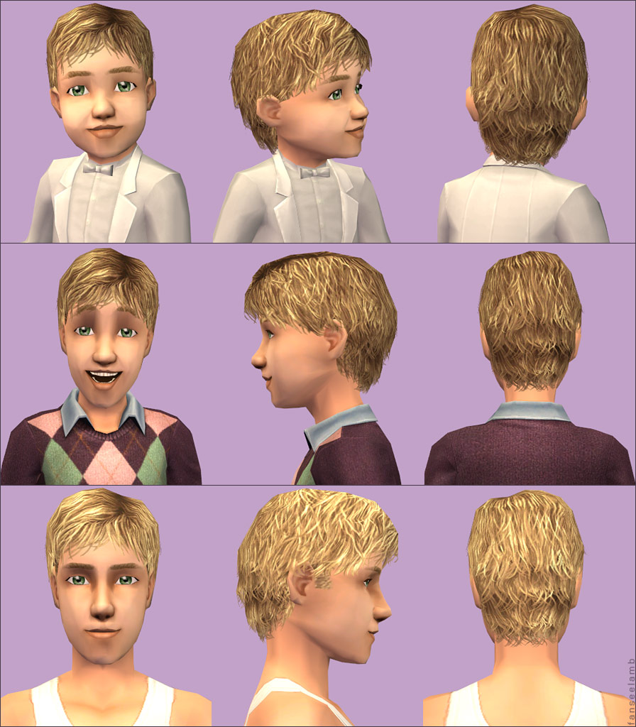 Sims 2 Hairstyles: Short Tousled Hair For Boys Of All Ages