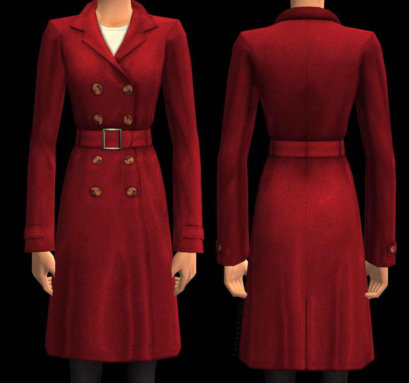 Mod The Sims - 5 Classically Elegant Wool Coats for Ladies