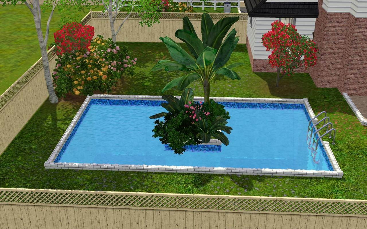 Mod the sims no 3 rose close for Pool designs sims 4