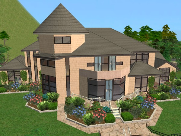 Mod the sims riverblossom manor for Sims 2 home designs