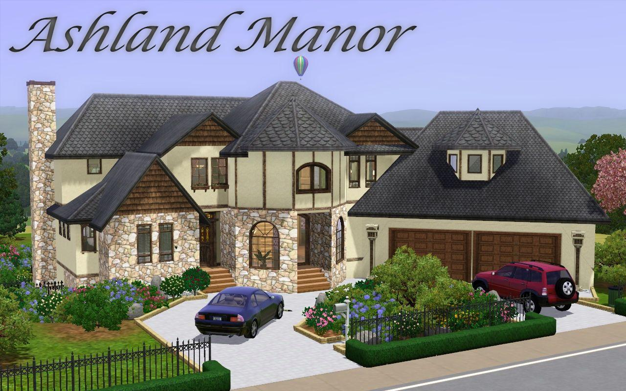Mod the sims ashland manor modern mock tudor for Best house designs sims 3