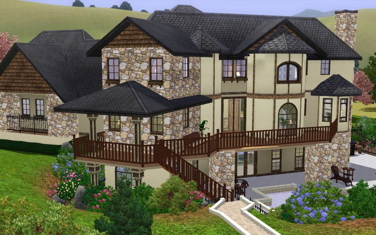 Mod The Sims Ashland Manor Modern Mock Tudor
